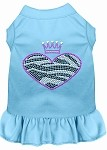 Zebra Heart Rhinestone Dress Baby Blue XS (8)