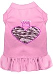 Zebra Heart Rhinestone Dress Light Pink XS (8)