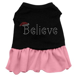 Believe Rhinestone Dress Black with Light Pink XXXL (20)