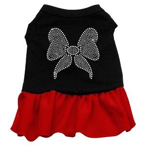 Rhinestone Bow Dresses Black with Red Lg (14)