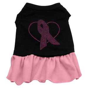 Pink Ribbon Rhinestone Dress Black with Pink Med (12)