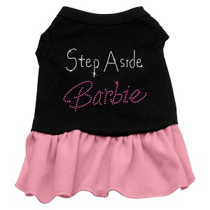 Step Aside Barbie Rhinestone Dress Black with Light Pink Lg (14)