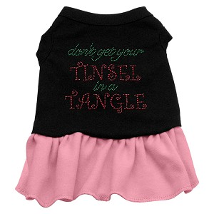 Tinsel in a Tangle Rhinestone Dress Black with Light Pink XL (16)