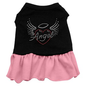 Angel Heart Rhinestone Dress Black with Light Pink Sm (10)