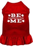 Be Thankful for Me Screen Print Dress Red XS (8)