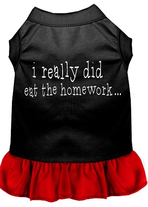 I really did eat the Homework Screen Print Dress Black with Red XXL (18)