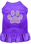 Chevron Paw Screen Print Dress Purple XXL (18)