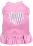 Chevron Heart Screen Print Dress Light Pink Med (12)