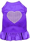 Chevron Heart Screen Print Dress Purple Med (12)