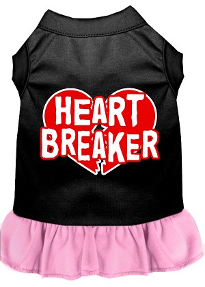 Heart Breaker Dresses Black with Light Pink XS (8)