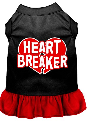 Heart Breaker Dresses Black with Red XXL (18)