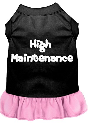 High Maintenance Dresses Black with Light Pink XS (8)