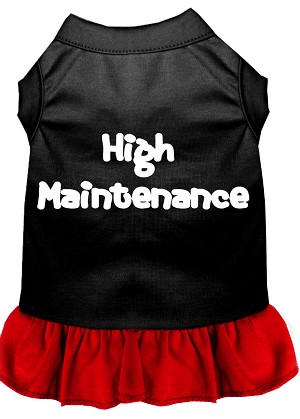 High Maintenance Dresses Black with Red XXXL (20)