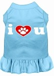 I Heart You Screen Print Dress Baby Blue XS (8)