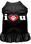 I Heart You Screen Print Dress Black XS (8)