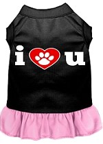 I Heart You Dresses Black with Light Pink XS (8)