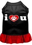 I Heart You Dresses Black with Red XS (8)