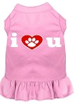 I Heart You Screen Print Dress Light Pink XS (8)