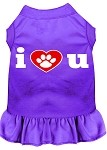 I Heart You Screen Print Dress Purple XS (8)