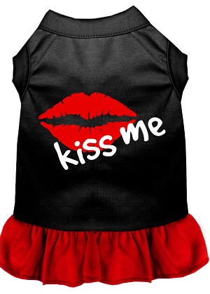 Kiss Me Dresses Black with Red Lg (14)
