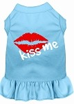 Kiss Me Screen Print Dress Baby Blue XS (8)