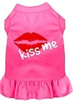 Kiss Me Screen Print Dress Bright Pink XS (8)