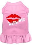 Kiss Me Screen Print Dress Light Pink XS (8)