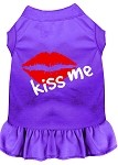 Kiss Me Screen Print Dress Purple XS (8)