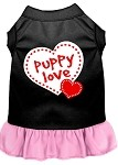Puppy Love Dresses Black with Light Pink XS (8)