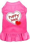 Puppy Love Screen Print Dress Bright Pink Sm (10)