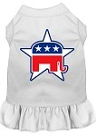 Republican Screen Print Dress White Med (12)