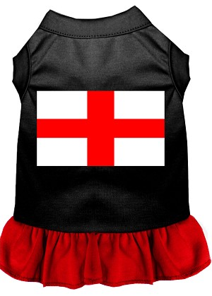 St. Georges Cross Screen Print Dress Black with Red XS (8)
