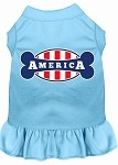 Bonely in America Screen Print Dress Baby Blue XL (16)