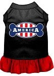 Bonely in America Screen Print Dress Black with Red Lg (14)