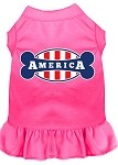 Bonely in America Screen Print Dress Bright Pink Lg (14)