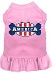 Bonely in America Screen Print Dress Light Pink Lg (14)