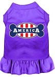 Bonely in America Screen Print Dress Purple Lg (14)