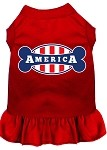 Bonely in America Screen Print Dress Red Sm (10)