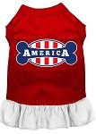 Bonely in America Screen Print Dress Red with White Med (12)