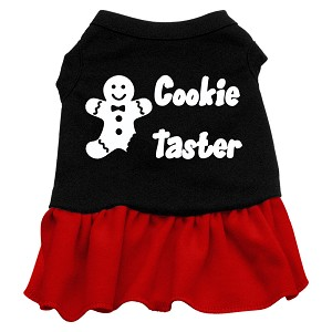 Cookie Taster Screen Print Dress Black with Red XL (16)