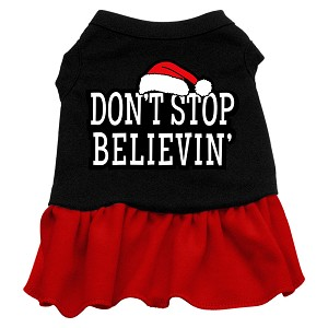 Don't Stop Believin' Screen Print Dress Black with Red XXXL (20)