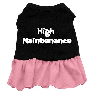 High Maintenance Dresses Black with Pink XL (16)