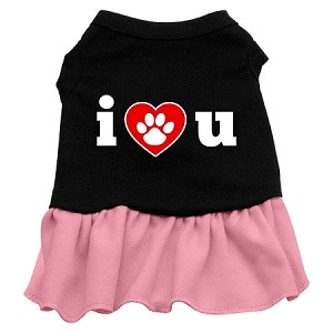 I Heart You Dresses Black with Pink Med (12)