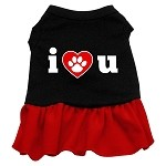 I Heart You Dresses Black with Red Lg (14)
