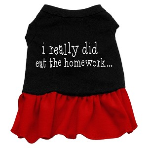 I really did eat the Homework Screen Print Dress Black with Red Sm (10)