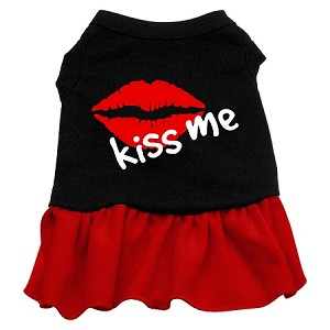 Kiss Me Dresses Black with Red Med (12)