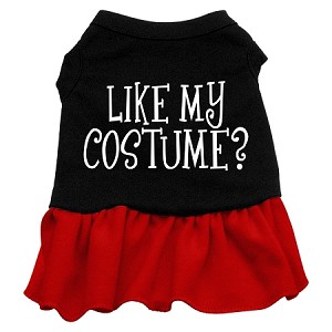 Like my costume? Screen Print Dress Black with Red Sm (10)