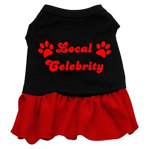 Local Celebrity Screen Print Dress Black with Red XXXL (20)