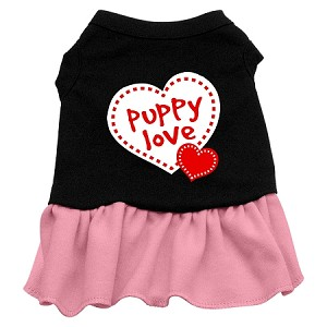 Puppy Love Dresses Black with Light Pink XXXL (20)
