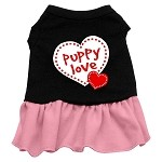 Puppy Love Dresses Black with Light Pink Sm (10)
